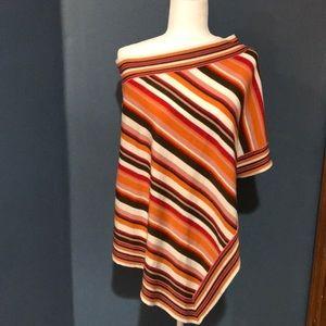 BCBGMAXAZRIA Sweater Poncho One Size